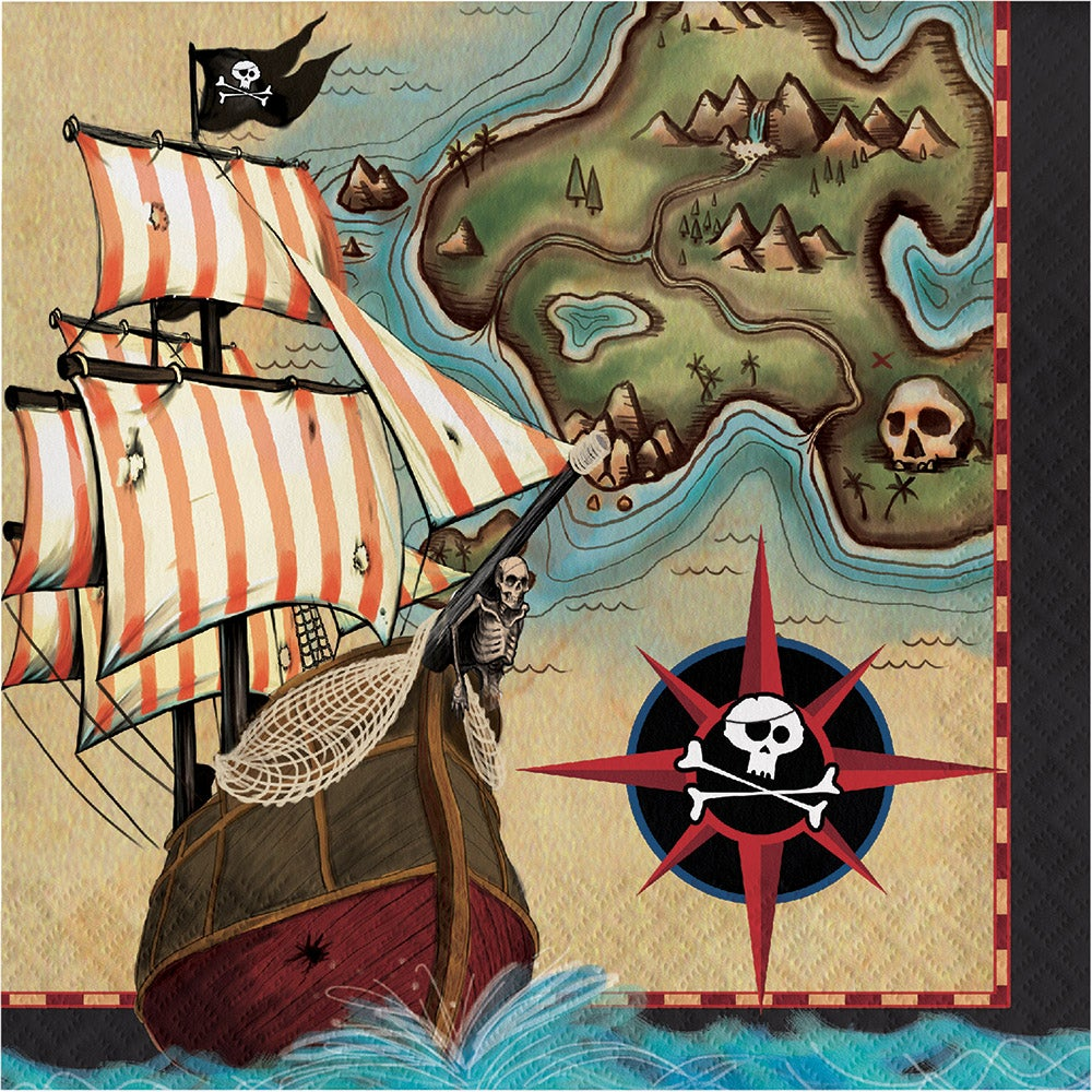 Pirates Map Dinner Napkins