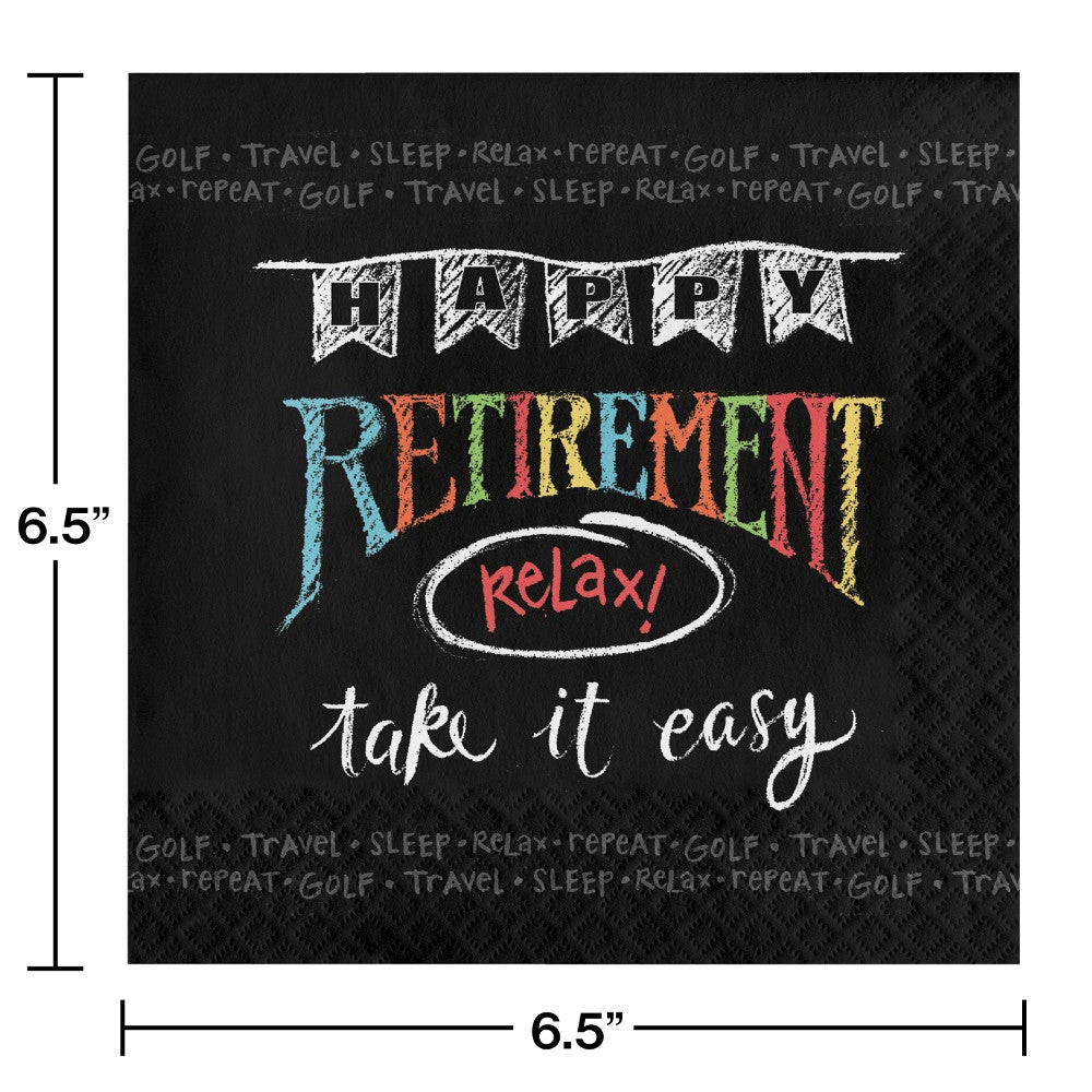 Retirement Chalk Napkins
