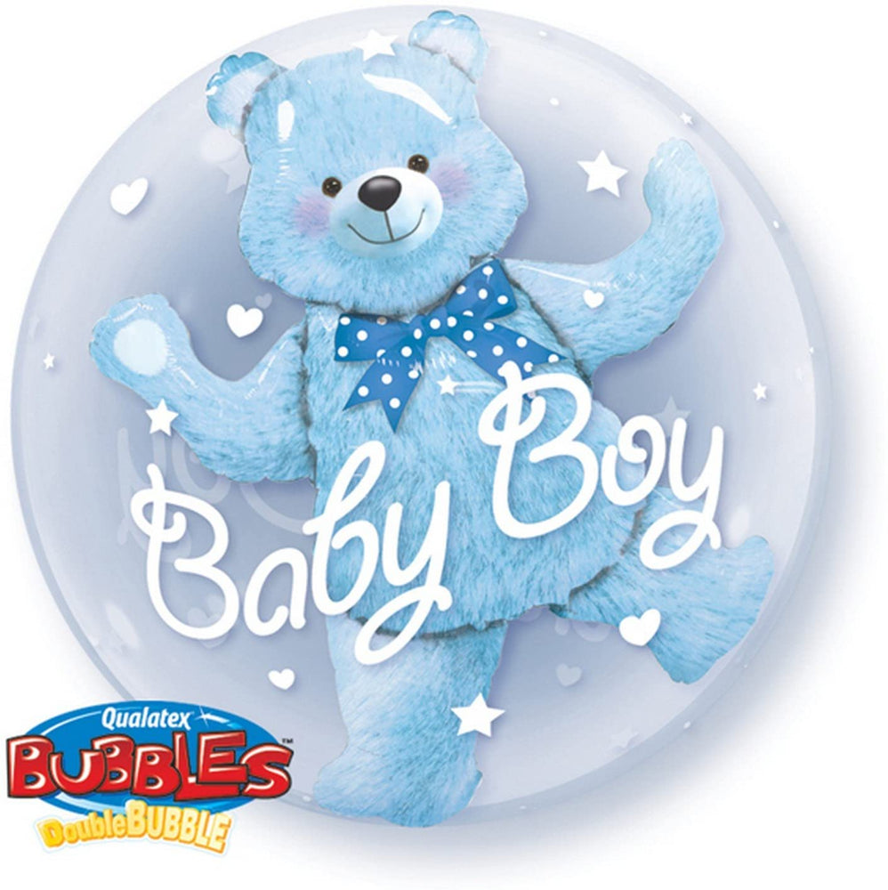 "24"" Double Bubble Teddy Bear Blue"