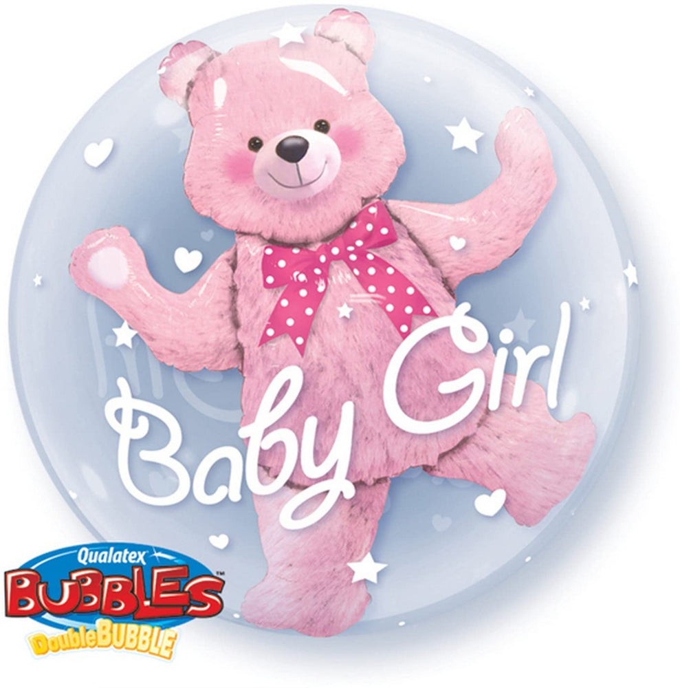 "24"" Double Bubble Teddy Bear Pink"