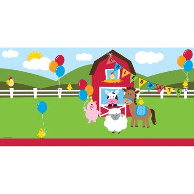 "Farmhouse Fun Plastic Table-cover 54"" x 108"""
