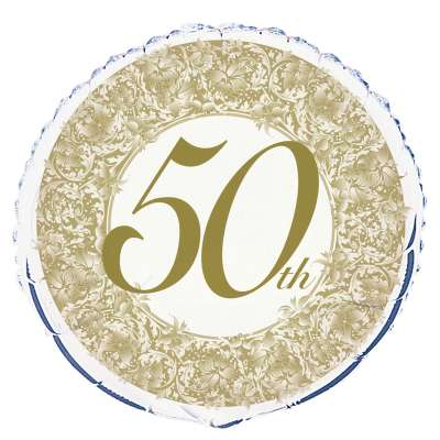 "18"" 50th Anniversary Foil Balloon"