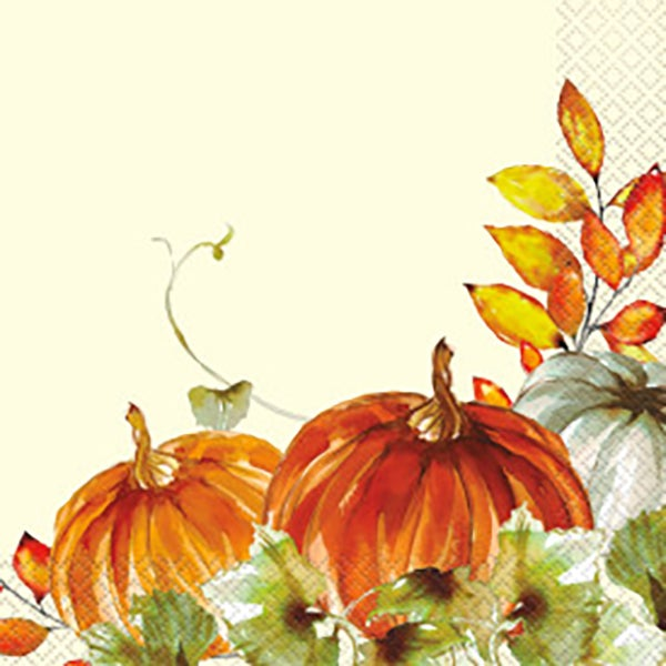 Watercolor Fall Pump Lunch Napkins
