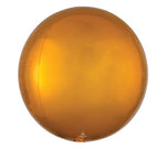 "24"" Gold Orbz Round Balloon"