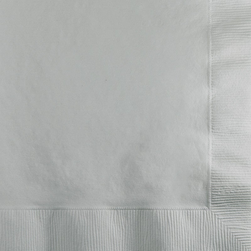Beverage Napkins Silver (50 Counts)