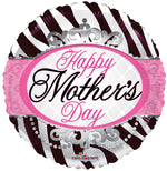 "18"" Foil Happy Mother s Day  Zebra"