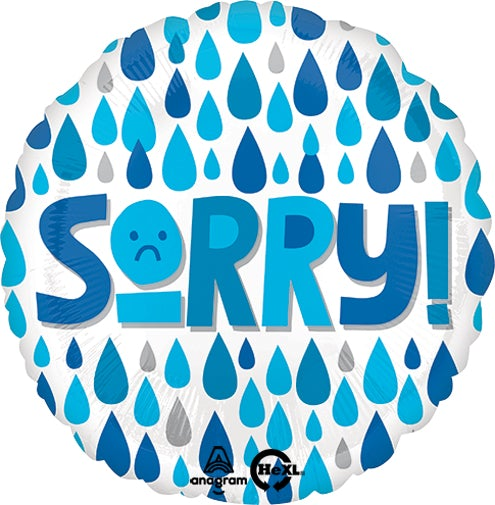 "18"" Sorry Raindrops Foil Balloon"