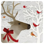 "Deer Friends 10""  Square Paper Plate"