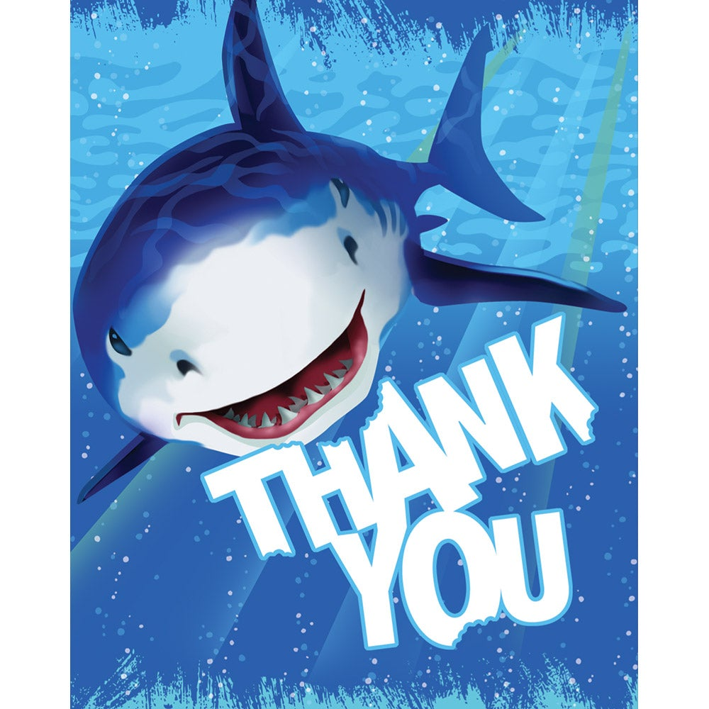 Shark Splash Thanks You Note