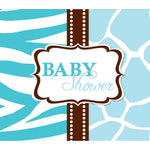 Wild Safari Invitations 25 Blue