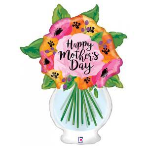"37"" Mother's Day Vase with Flower Balloons"