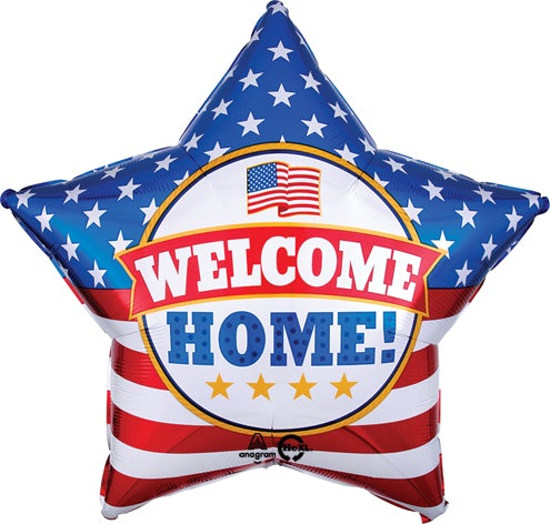 Welcome Home Patriots Star Balloon