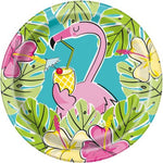 "Summer Pineapple & Flamingo 7"" Lunch Plates (8 counts)"