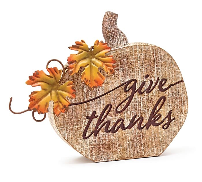Give Thanks Pumpkin Decor