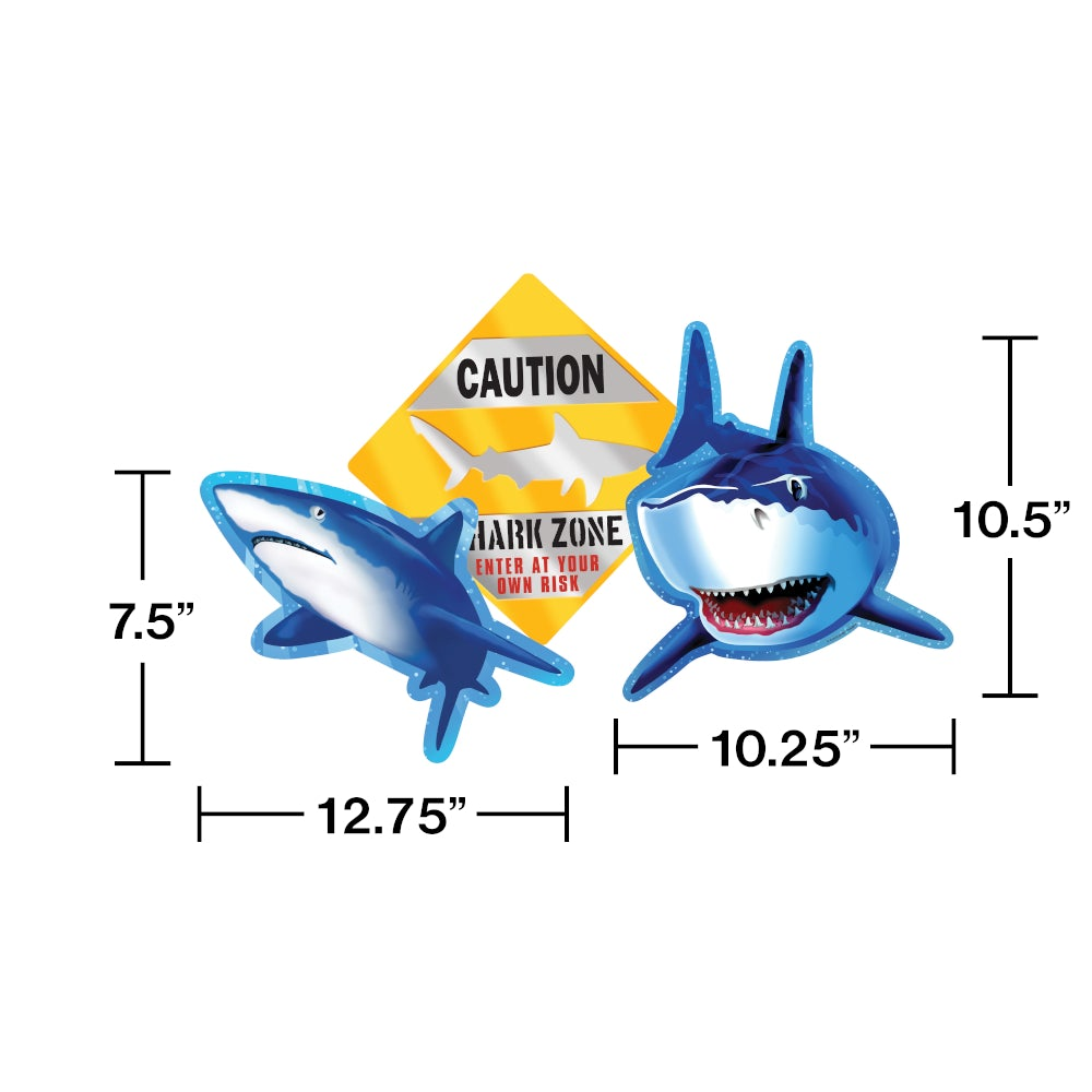 Shark Splash Party Cutouts