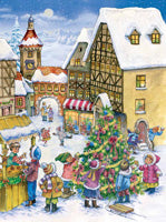 Christmas Children's Village Scene Advent Calendar