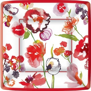 Ariella Red Square Dinner Plate