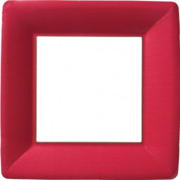 Classic Red Square  Dinner Plates