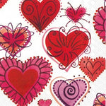 Firework Hearts Lunch Napkins