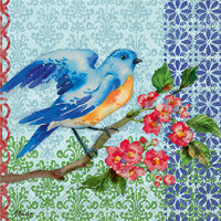 Blue Bird Cocktail Napkins