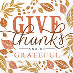 20 Count Cocktail Napkins Give Thanks