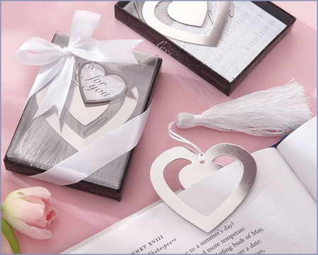 Heart Shaped Bookmark Favor