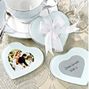 Heart Shaped Photo Coasters (2 pieces)