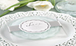 White Lace Glass Coasters
