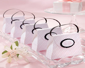 Purse Gift Pink Favor Boxes (Set of 6)