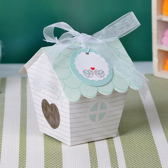 Sweet Bird House Favor Box (Set 12)