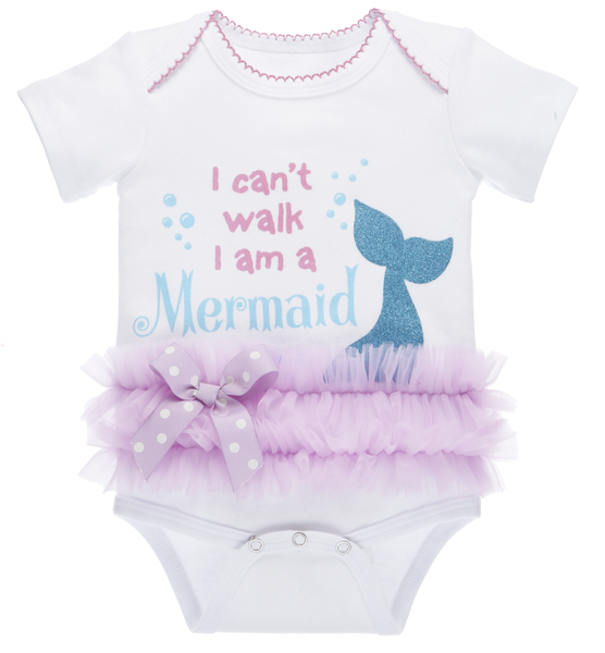 Diaper Shirt Tutu - I cant wal