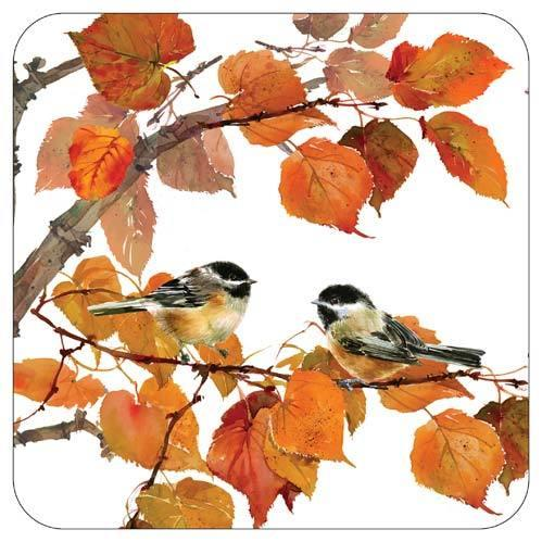 Autumn Bird Buffet Plates