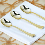 Gold Shine Cutlery  (24 counts)