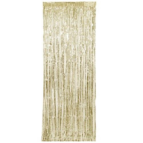 Fringe Door Curtains Gold