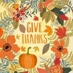 Mia Charro - Give Thanks Floral Lunch Napkin