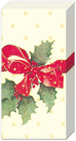 Christmas Bow Cream Pocket Tissue