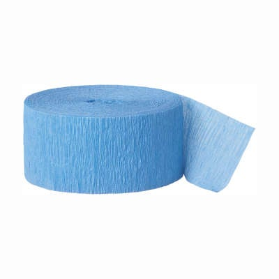 Blue Crepe Streamer 200 ft