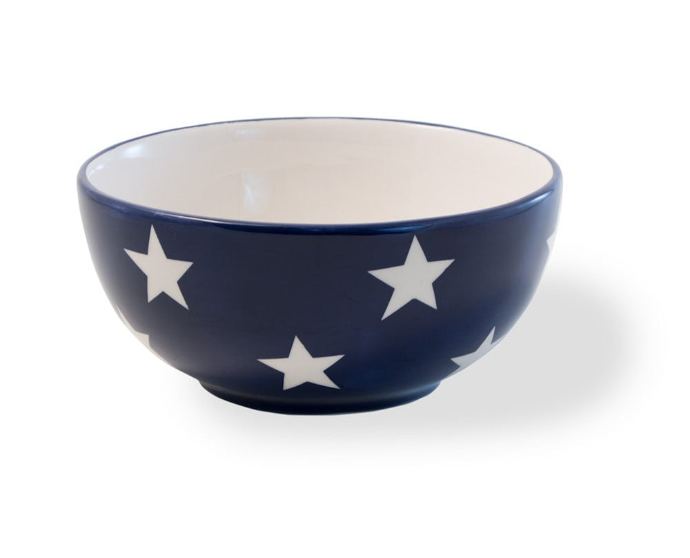Boston International - Ceramic Bowl - 20 oz. - Americana Stars