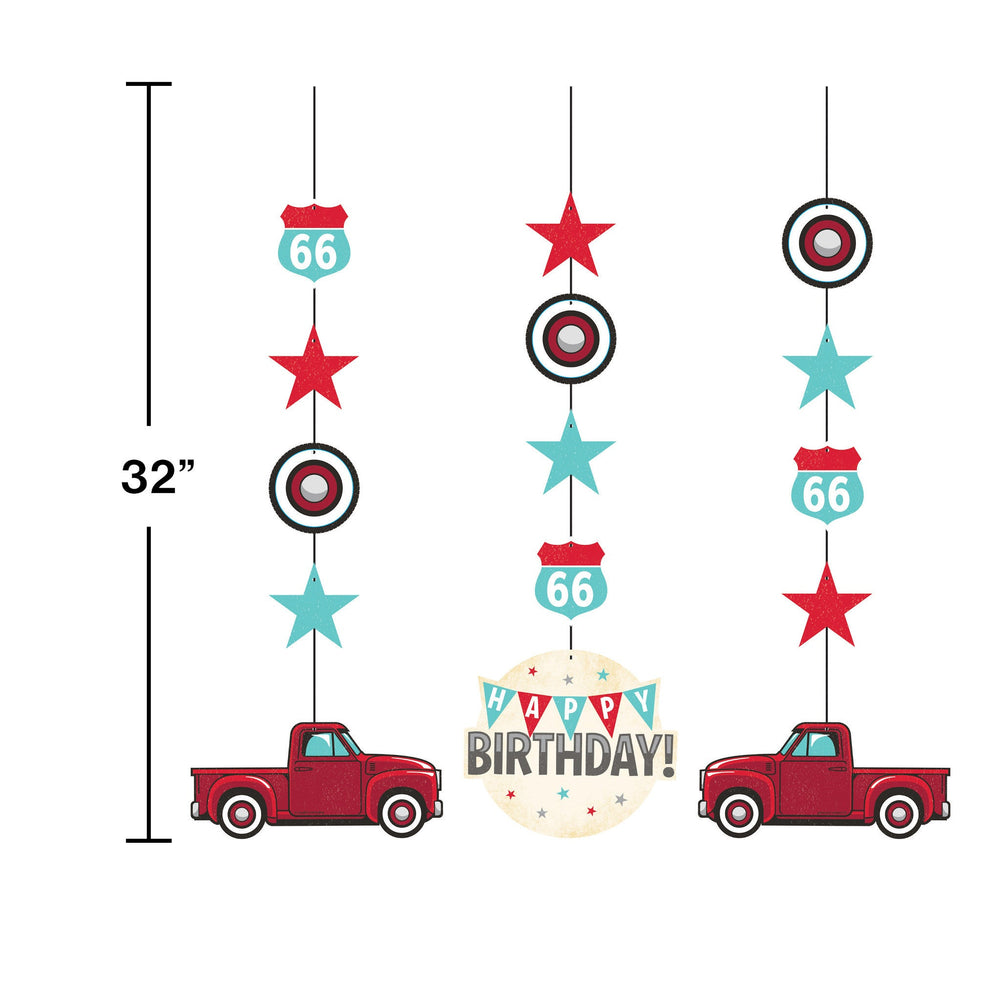 Vintage Red Truck Hanging Cutout
