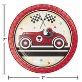 Vintage Race Car Lunch Plates