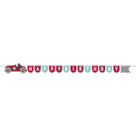 Vintage Race Car Ribbon Banner