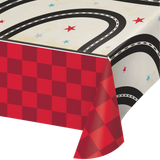 "Vintage Race Car Tablecover 54"" x 102"""