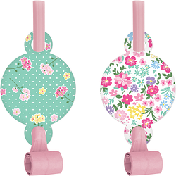 Floral Tea Party Blowouts W/ Med