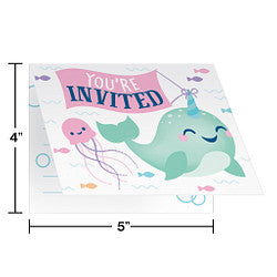 Narwhale Party Invitation