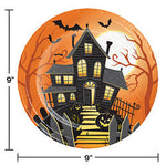 "Halloween Haunted House 9"" Dinner Plates"