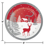 "Winter Wonder 9"" Dinner Plates"