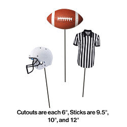 Football Stick Centerpieces