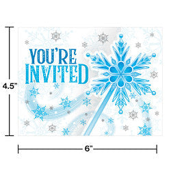 Snow Princess Invitation Gatefold