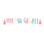 Sassy Caticon Shaped Ribbon Banner