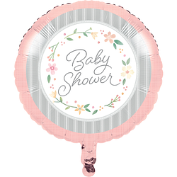 "18"" Farmhouse Floral Baby Shower Balloons"